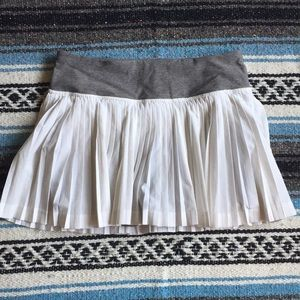 Lululemon Pleat to Street II skort size 4 white
